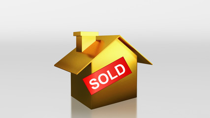 investment gold house sold label