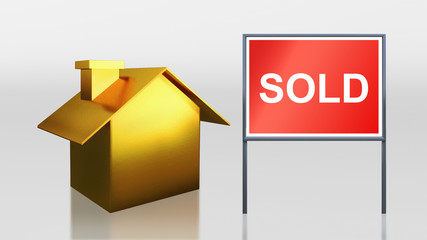 gold house for sold