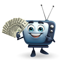 TV character with dollars
