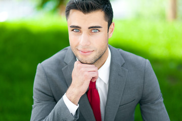 Businessman portrait outdoor