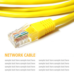 Network internet cable isolated on white background