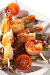 Skewered Shrimps