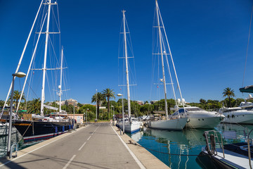 Antibes, France. Yachts in Port Vauban - 5