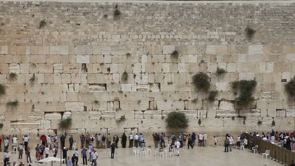Wailing Wall in Jerusalem. old town