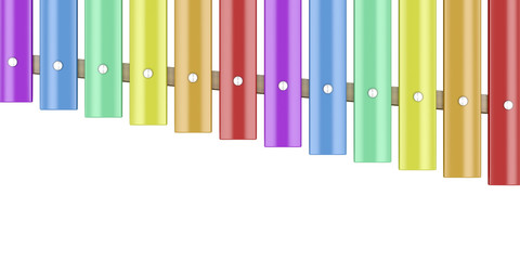 Xylophone isolated on white