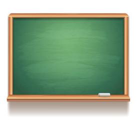 Blank green blackboard.