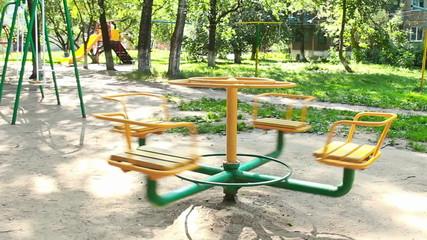 Children's swing for entertainment area