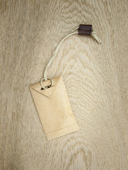 brown string and paper envelope