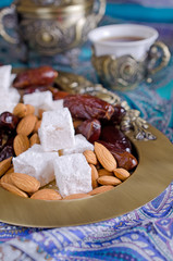 dates, sweets and nuts