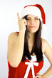 Female santa claus got a terrific idea for Christmas