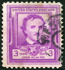 USA - 1949: shows Edgar Allan Poe (1809-1849), writer and poet