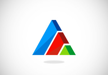 triangle business bar 3D logo