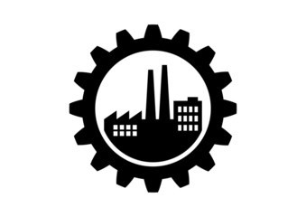 Industrial icon on white background