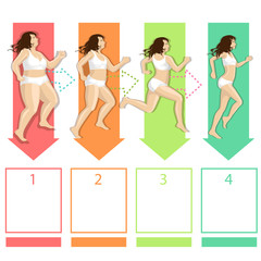stage slimming women while running