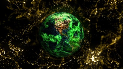 Earth Pollution Concept Background