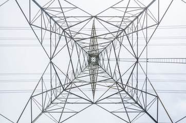 High-voltage transmission tower