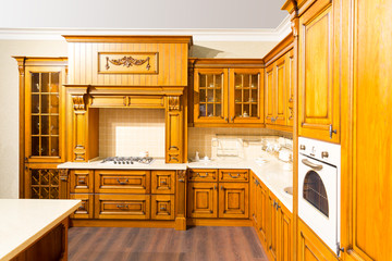 Wood beautiful custom kitchen interior design