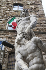 Statue of Hercules and Cacus in the Piazza della Signoria in Flo