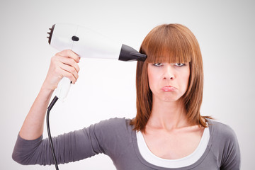 Hairdresser having a bad day