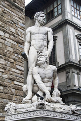 Statue of Hercules and Cacus in Florencia, Italy