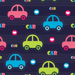 colorful car pattern vector illustration