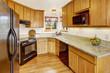 Small kitchen room interior