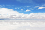 Кeflecting surface of the lake Salar de Uyuni, Bolivia