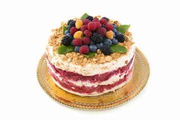 Italian dessert with summer berries.