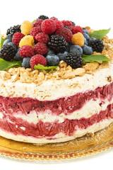 Berry Semifreddo - Italian dessert.