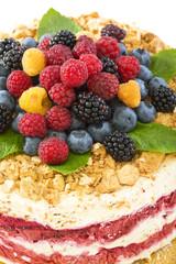 Italian dessert with berries.