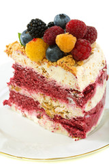 Summer dessert with berries.