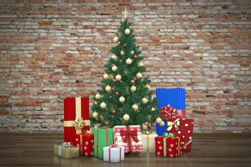 Tannenbaum Mit Geschenken