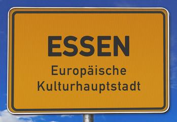 Schild Essen, Europäische Kulturhauptstadt