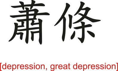 Chinese Sign for depression, great depression
