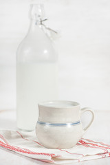 Fresh milk in ceramic mug
