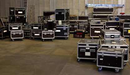 mobile containers for transportation of concert equipment