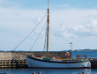Old vintage wooden sail boat