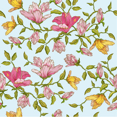 Floral Background - for design, scrapbook - in vector