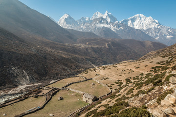 Himalayan Valley in Nepal