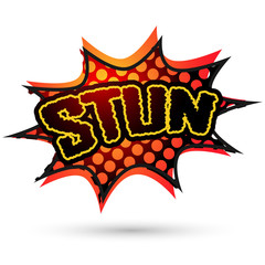 Stun Comic Speech Bubble. Vector illustration
