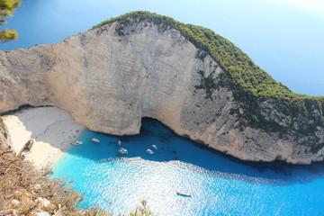 Бухта Навайо (Navagio Beach), остров Закинф, Греция