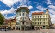 Hauptmann's House on Preseren Square in Ljubljana, Slovenia