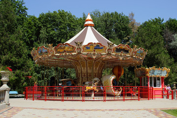 Carousel in the park.