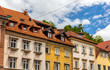 Buildings in historic centre of Ljubljana, Slovenia