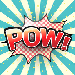 Pow, Comic Speech Bubble. Vector illustration.