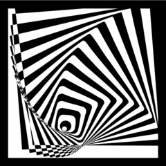 Square illusion vector