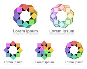 Colorful infinite loop icons