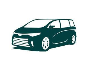 An illustration of concept of minivan icon