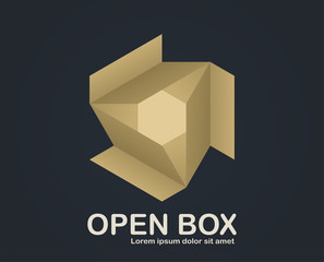 An illustration of open box business icon