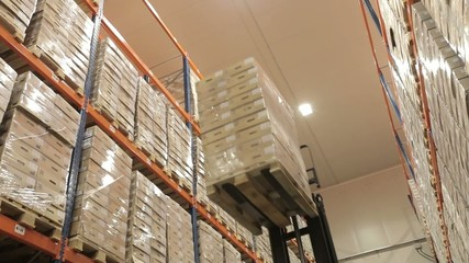 Warehouse logistics. Stacking pallet